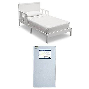 Amazon.: Delta Children Fabio Toddler Bed, Bianca with Serta