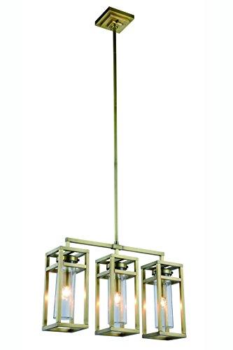 """Bianca Collection Pendant Lamp L:26"""" W:6"""" H:65"""" Lt:3 Burnished Brass Finish (Finish: Burnished Brass)"""