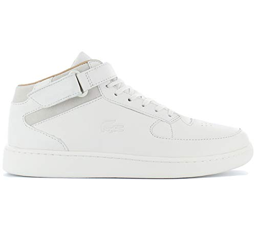 Hommes Lacoste Straightset De Crf Espadrilles Blanches