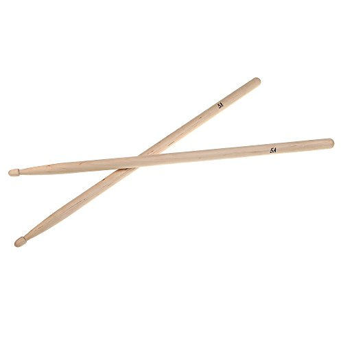 Andoer Pair of 5A Maple Wood Drumsticks Stick for Drum Set Lightweight Professional