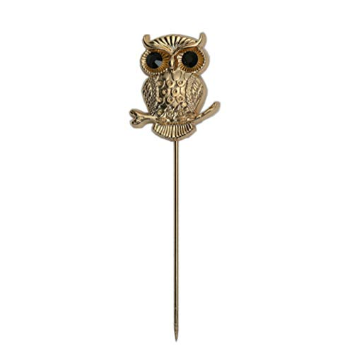 YUMILY Unisex Vintage Owl Stick Lapel Pin Suits Shirts Brooch