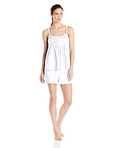 Hanro Women's  Juliet Short Pajama Set White Large ()