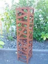 Cono H 80cm Soporte para brasero–Maceta Jardín oxidado metal