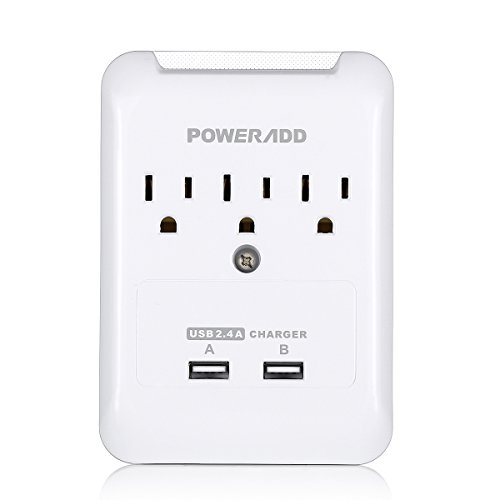 Poweradd Charger 3 Outlet Protector Smartphones