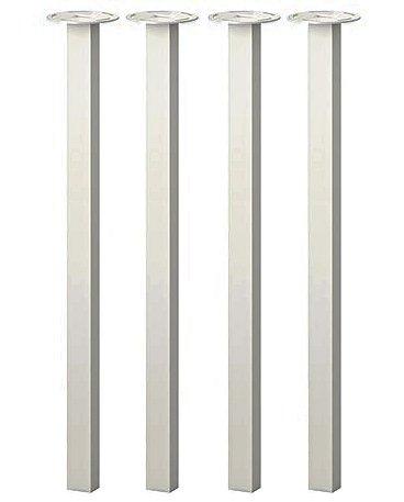 IKEA Godvin Metal Table Legs - Steel, White [Set of 4] by IKEA