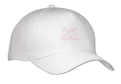 Uta Naumann Sayings and Typography - Watercolor Typography - Tired As A Mother - Caps - Adult Baseball Cap (Cap_292101_1) -