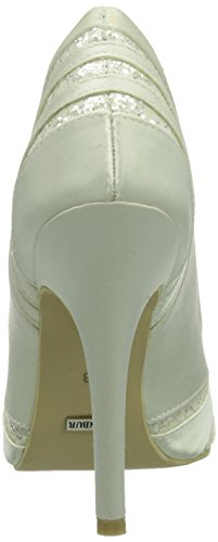 Menbur Wedding Tatiana, Women's Closed pumps Ivory - Elfenbein (Ivory 04)