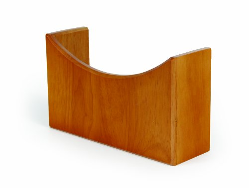 Camco Oak Accents Wall Organizer- Mountable Organizer Stores Tablets, Magazines, Books, Headphones and More, Easy Set Up - Oak Wood Finish (43483)