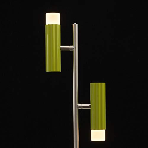 Moderne Tischlampe LED Grün 2 flammig Nickel Grün LED Acryl Wohnzimmer 336b73