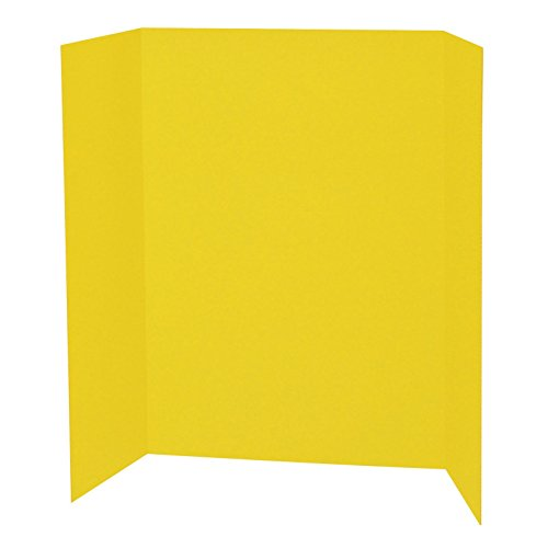 "Pacon PAC3769BN Presentation Board, Yellow, Single Wall, 48"""