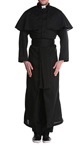 KAMA BRIDAL Nun Friar Priest Costume Adult Deluxe Plus Size Traditional Couple -