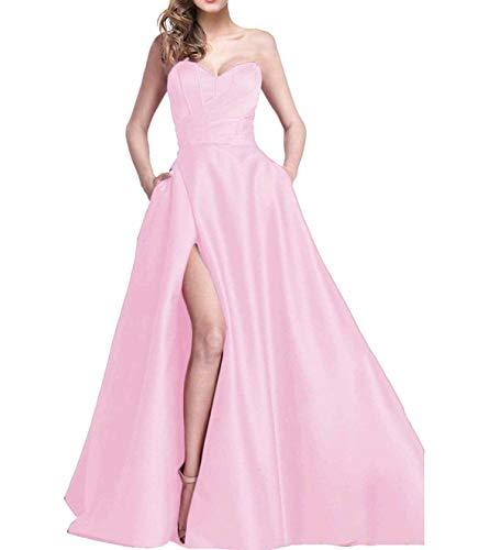 Per Eleganti Dividere Rosa Abiti Da Da Ballo Damigella Changuan Abiti Sera Le Donne Da Alta Lunghi Abiti Di qa4PwIdx
