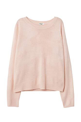CutyFashion Women's 100% Acrylic Crew Neck Fashionable Sweater. (M, Blush) ()
