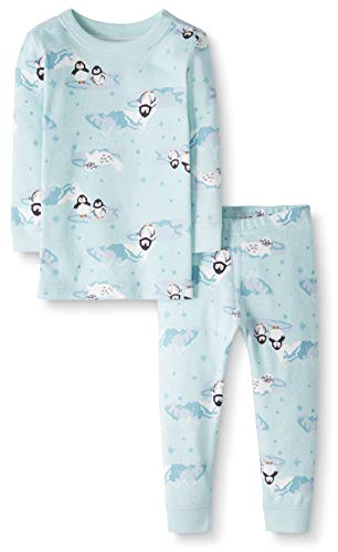 Moon and Back by Hanna Andersson Toddler Kids 2 Piece Long Sleeve Pajama Set, Penguin Print, 2T from Moon and Back by Hanna Andersson