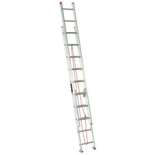 Louisville Ladder L-2324-20 Aluminum Extension Ladder, 20 Feet, 200 Pound Duty Rating