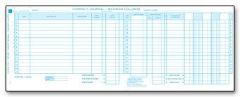 EGP Expanded Columns Compact Input Journal Sheet