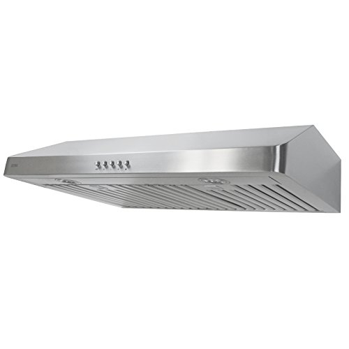 KOBE CHX3630SB-1 Brillia 30-inch Under Cabinet Range Hood, 3-Speed, 420 CFM, LED Lights, Baffle Filters