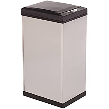 Amazon Com Kamenstein Rectangle Stainless Steel Trash Can