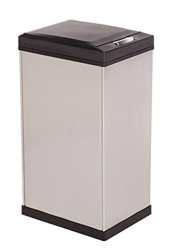 Kamenstein Rectangle Stainless Steel Trash Can, 40-Liter/10.5-Gallon