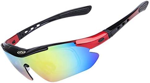 偏光近視サイクリングサングラスアウトドアサイクリングメガネサイクリングウィンドプルーフメガネ5枚交換レンズ付きサイクリングに最適
