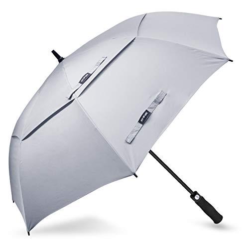 ZOMAKE Golf Umbrella Windproof Large 68 inch Double Canopy Automatic Open Umbrella for Men - Vented Sun Umbrella - Stick ()