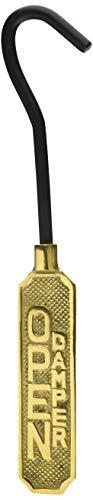 Upper Deck Solid Brass Metal Open/Closed Fireplace Damper Sign Hanging Flue Pull Hook (Pull Damper Fireplace)