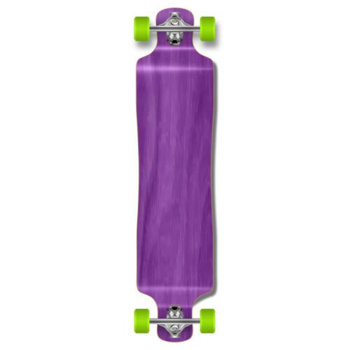 Price comparison product image Eight24hours Punked Lowrider Drop down through Longboard Complete skateboard Stained wood - Purple