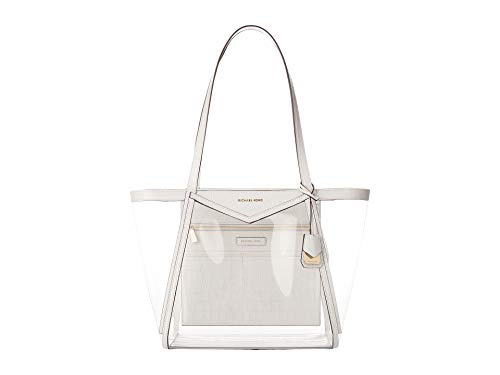 Michael Kors Whitney Large PVC and Leather Tote OPTIC ()