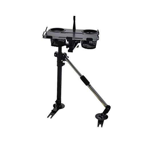 AA Products K002-BS Car Laptop Mount Stand Holder with Non-Drilling Bracket and Aluminum Supporting Arm - For Stands Cars Laptop