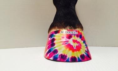 Hoofies Horse Hoof Stickers Tie Dye by Hoofies
