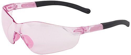 (ERB Safety Products 18596 Grace Safety Glasses, Pink/Clear Lens, 9.625