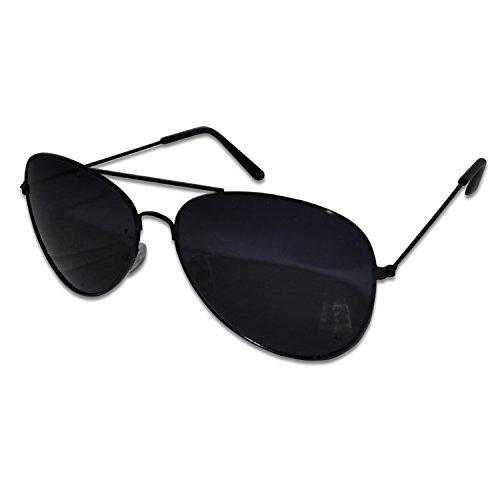 Black Aviator Style Unisex Sunglasses UV400 Protection | Designer Unisex - Glases Usa