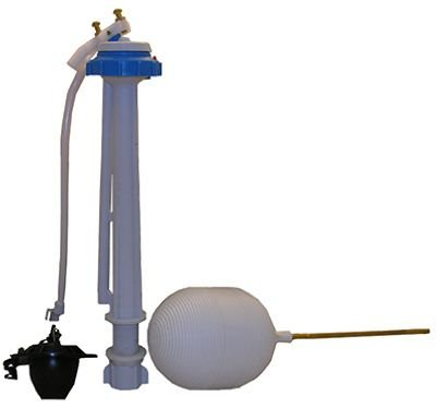 LASCO 04-4031 Toilet Ballcock with Anti-Syphon Plastic 10-Inch Fill Valve Kit with Float, Float Rod, Refill Tube, Flapper and Nut