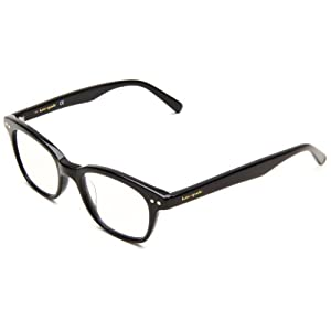 Kate Spade Women's Rebec Cat Eye Reading Glasses, Black Frame/Black Lens, 49 mm (1 x Magnification Strength)