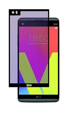 Plus® Curved Anti Blue Ray 9H Full Screen Coverage Screen Tempered Glass Protector Guard for LG V20   Black