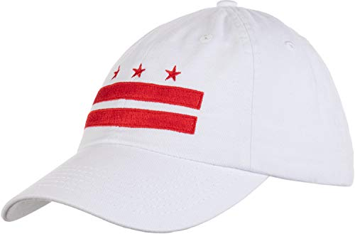 Washington DC Flag | D.C. Capitol Northern Virginia Low Fit Baseball Cap Dat Hat White