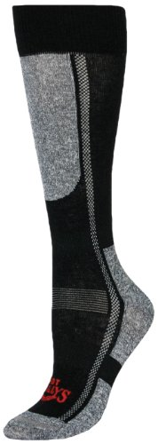 Hot Chillys Womens Socks - Hot Chillys Women's Lo Volume Sock (Black/Heather, Small)