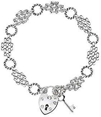 Pulsera de plata de ley con diseño de pantera de diamante y llavero