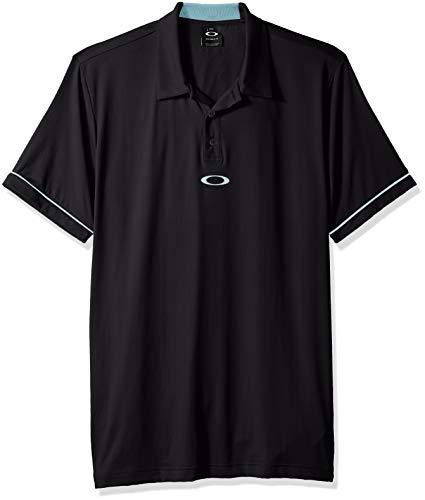 Oakley Men's Polo Contrast Colar Detail Ss, Blackout, L
