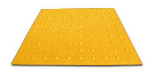 UltraTech 0751 Urethane Retrofit Ultra-ADA Warning Pad with Raised Truncated Dome Design, 4' Length x 2' Width, Yellow ()