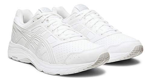 - ASICS Gel-Contend 5 SL Men's Walking Shoes, White/Glacier Grey, 11 M US