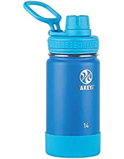 Takeya Australia Takeya Actives Vacuum-Insulated Stainless-Steel Water Bottle, 415ml, Sky Vacuum Insulated Double Walled Water Bottle, Sky, 14 Ounce