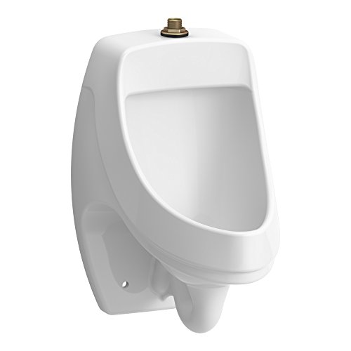 KOHLER K-5452-ET-0 Dexter Washout Wall-Mount 125 Gpf Urinal with Top Spud, White