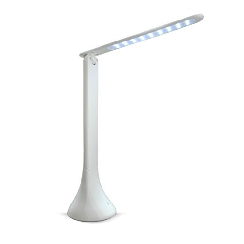 Desk Lamps, HeQiao Portable Touch-Sensitive Table Light w/Adjustable Brightness for Eye-Care Reading (Ivoty White)