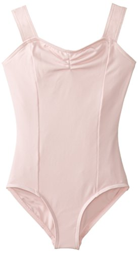 Capezio Big Girls' Tactel Collection Wide Strap Leotard, Pink, Large (12-14)