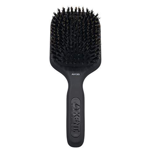 (Kent AH13G Airhedz Pro Pure Bristle Paddle Brush (Medium, Grey) - for Smoothing and Finishing)