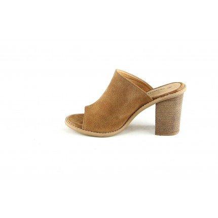 Chaussures Talon à été 8 Cognac en 5cm pour Femmes Sabots de Cuir Talon BYwqOO