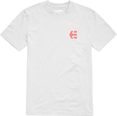 (Etnies Men Scripty Short Sleeve White Shirts Size Medium )