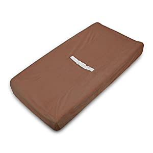 TL Care Heavenly Soft Chenille Fitted Contoured Changing Pad Cover, Chocolate, for Boys and Girls