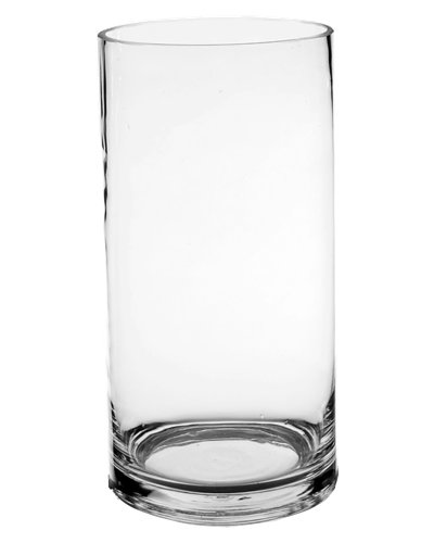 Koyal Wholesale 404337 12-Pack Cylinder Glass Vases, 4 by 10-Inch